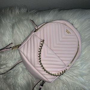 baby pink victoria's secret backpack